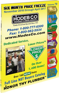 Hodes Company Wholesale Plumbing Parts and Plumbing Supply Distributer Full Line Buyers Catalog