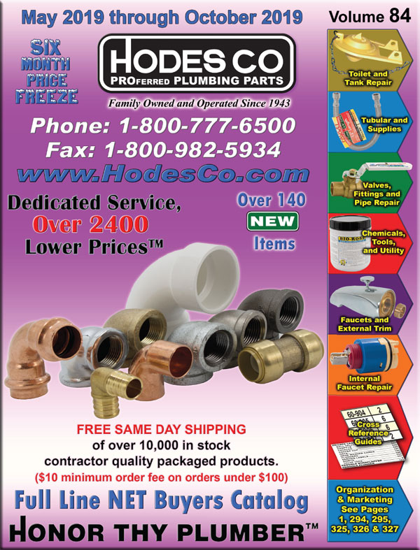 Hodes Company Wholesale Plumbing Parts and Plumbing Supply Distributor
