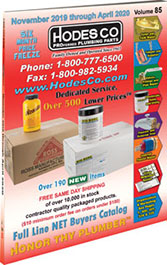 Hodes Company Wholesale Plumbing Parts and Plumbing Supply Distributor Full Line Buyers Catalog